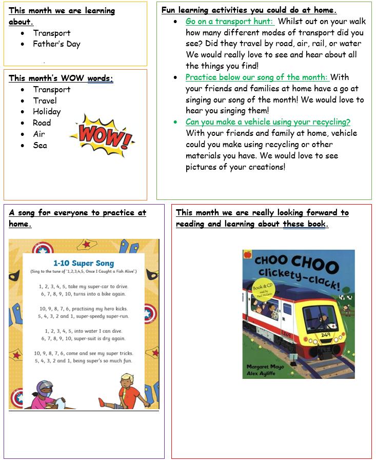 Pre-School's Home Learning June 2021